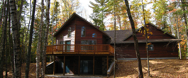 Lake Cabin With Cedar Siding Large Great Room Walk Out